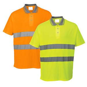 Portwest S171 Cotton Comfort pólóing narancs 2e47690b24